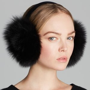 OAK Genuine Black Fur Earmuffs